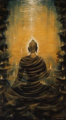 buddha art - Buddha Nirvana Ocean Art Print by Vrindavan Das Lotus Buddha, Art Buddha, Buddha Artwork, Buddha Kunst, Buddha Zen, Buddha Canvas, Gautama Buddha, Buddha Buddhism, Buddhist Art