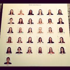 Casting deHelmut Lang S/S 2013 #nyfw #chinachase
