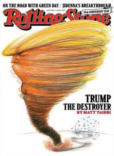 #MagLove 21 April 2017 — the best magazine covers this week —Rolling Stone, 6 April 2017: Donald Trump.