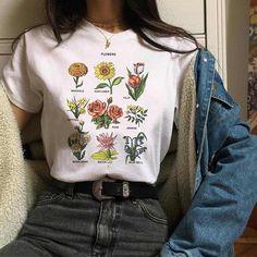 e72f2eda New Fashion Wildflower T-shirt – Laila Closet Graphic Tees, Harajuku, Short  Sleeves