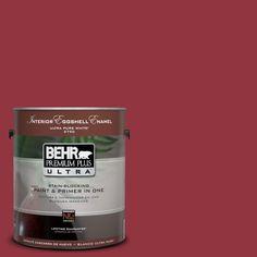 BEHR Premium Plus Ultra 1-Gal. #UL100-6 Red Velvet Interior Eggshell Enamel Paint