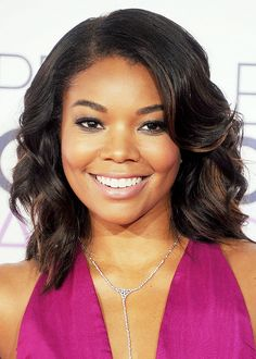 Gabrielle Union's flawless skin + nude lip
