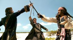 °~ James Norrington, Will Turner & Captain Jack Sparrow