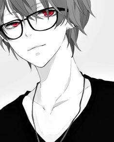anime, boy, and glasses-bilde