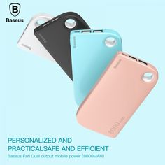Baseus Power Bank Dual USB Output fast Charge Portable External Battery Charging For iphone 7 samsung huawei xiaomi Mobile Accessories, Phone Accessories, External Battery Charger, Diy Store, Samsung S9, Iphone 7, Usb, Free Shipping, Computers