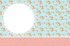 Vejam o NOVO Kit Floral Vintage Rosa e Azul! Esse Kit tem tudo para você fazer sua festinha sozinha, com várias molduras, imagens, convites e rótulos, você pode imprimir em casa usando asdicas do bloge arrasar na sua festinha! Esse Kit é fundo do Kit Jardim Encantado Vintage Floral! Se você tem alguma dúvida, nãoMore