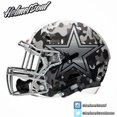 Matte b&w camo for this new dallascowboys concept. #helmet #design  #AmericasTeam #dallascowboysnation #dallas #texas #nfl #espn #nike #footballhelmet  #Austin #usa #america @mattthorntonnfl  @oldskoolbruh new designs added! #helmet #collegefootball #design #nfl #football #footballhelmet