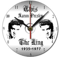 #Elvis Presley Personalised Cd Clock Free Gift Box Free Stand Birthday Gift 10