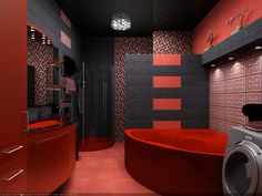 Black-and-Red-Bathroom