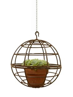 Outdoor Decor :: Planters, Pots, Vases & Urns :: Home Decor - Planter Light Globe -