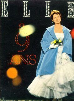 Brigitte Bardot on the cover of Elle 1st November  1954