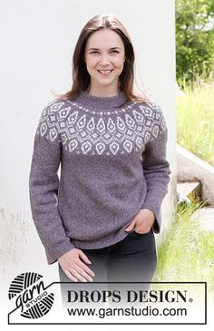 Fair Isle Knitting Patterns, Knitting Paterns, Free Knitting, Drops Design, Crochet Jacket, Knit Crochet, Crochet Flower, Easy Crochet, Free Crochet
