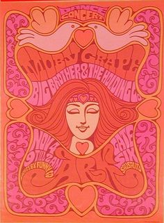 Moby Grape, Big Brother and the Holding Company at The Ark November 4th - Lead Pipe Posters - Vintage Rock Art Posters, Psychedelic Art Posters and More