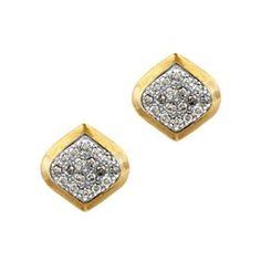 Pave diamond 'clove' earrings by Gurhan