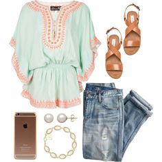 ☺ by annagabriel on Polyvore featuring Donale, J.Crew, Steve Madden, Honora and Kendra Scott