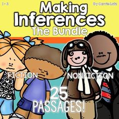 This is a BUNDLED PRODUCT! Making Inferences Bundle - I have combined the Fiction and Non-Fiction Passages With Differentiated Graphic Organizers Together Buy the Bundle and SAVE! Making Inferences 14 Mini - Passages With Differentiated Graphic Organizers Making Inferences 1, Mini Passages Influential People..