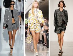 Shortsuit Trend for Spring 2013! (Michael Kors, Tory Burch, Helmut Lang) Looking forward to this trend, casual or dressy with my heels! and a hot pair of shades!