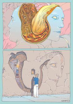Image detail for -Sulle pagine di Métal Hurlant Moebius ha smontato (mattone dopo mattone) la costruzione classica delle storie a fumetti costruite sulla solidità della sceneggiatura ...