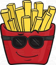 Cool-Looking Red Pack Of French Fries Emoji #cartonpack #cartoon #closedlipsmile #cool #Crimson #cute #emoji #emoticon #eyeglasses #fashionable #fastfood #frenchfries #french-friedpotatoes #fried #friedfood #fries #genericfries #goldenfries #hip #menu #packoffries #potato #raisedeyebrow #red #rootvegetable #shoestringfries #smile #smiley #smilies #smiling #smirk #snack #stylish #sunglasses #trendy #wide #yellowfries #vector #clipart #stock
