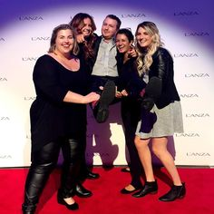 Having wayyyyyy too much fun at the L'anza Healing Haircare and CoCre8 event last night with our favorite A&A Beauty Supply rep! Joe is such a good sport!  #workhardplayharder #funtimes #beautyknowledge #educate #knowledgegains