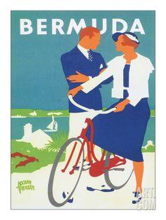 Bermuda Art Print by Adolph Treidler at Art.com