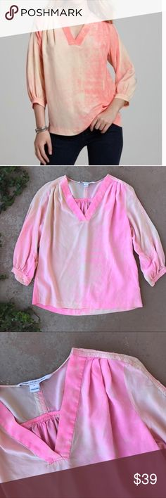 "Diane Vin Furstenberg Pink ""New Cahil"" Silk Blouse 100% silk pink acid wash style Blouse by Diane Von Furstenberg. Size 8. In excellent condition! Diane von Furstenberg Tops Blouses"