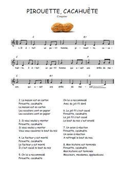Téléchargez la partition gratuite de Pirouette, cacahuète en PDF