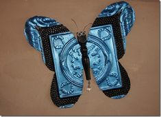 Butterfly made from Antique Tile