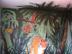 Jungle mural. Follow Murals by Steve on Facebook. www.facebook.com/muralsbysteve