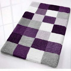 Purple bathroom rug