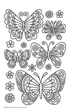 Color Animals Coloring Book: Perfectly Portable Pages (On-the-Go! Coloring Book) (Design Originals) Extra-Thick High-Quality Perforated Pages in Convenient Size Easy to Take Along Everywhere Quilling Butterfly, Butterfly Drawing, Butterfly Embroidery, Butterfly Crafts, Butterfly Wallpaper, Butterfly Pattern, Paper Quilling, Embroidery Patterns, Hand Embroidery