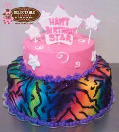 Rainbow Zebra Print Cake Zebra Print Cakes, Zebra Cakes, Fun Cakes, Party Cakes, Cupcake Cakes, Birthday Cakes, Birthday Ideas, Zebra Party, Rainbow Zebra