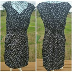 "Swallow print plus size dress This dress is brand new and so cute,  side pockets,  tag says sz 18 but fits more like sz 14/16, cotton material,  length 42"", ua to ua 19.5"",waist 17"" across Eshakti  Dresses"