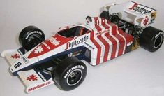 F1 Paper Model - 1984 Portugal GP Toleman TG184 Hart Free Template Download