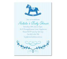 Baby Create Invitationsparty Invitationsbaby Horseschristening Shower
