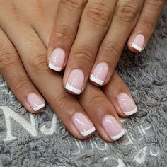 New Ideas French Manicure Gel Style French Manicure Gel, Ongles Gel French, Accent Nail Designs, Fall Manicure, Wedding Manicure, Manicure Colors, French Manicure Designs, French Nails, Manicure And Pedicure