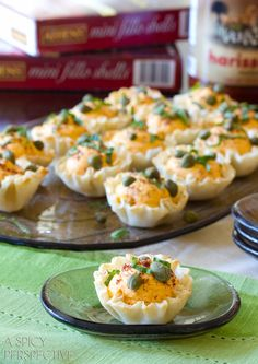 Deviled Egg Recipe: Middle Eastern Deviled Egg Baskets #easter #deviledeggs