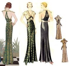 1932 Evening Gown Pattern by EvaDress