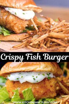 Clam Recipes, Seafood Recipes, Indian Food Recipes, Italian Recipes, Appetizer Recipes, Chicken Recipes, Dinner Recipes, Fish Burger, Fish Sandwich
