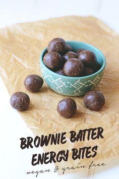 brownie batter energy bites