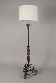 Vintage wrought iron gothic arts crafts bridge floor lamp with neo gothic forged iron floor lamp aloadofball Images
