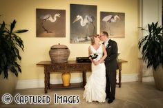 The bride and groom enjoyed taking their portraits and family photos before the wedding in the lobby of the Sandpearl on Clearwater Beach - Captured Images Blog