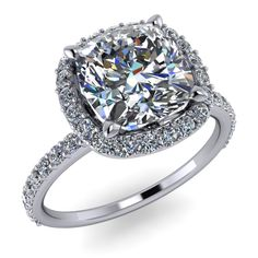 Custom 1.5ct cushion cut diamond engagement ring! I would die!