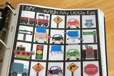 Road Trip Binder for Kids with links to free printables