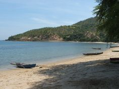 A beach in East Timor