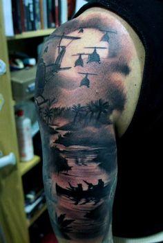 793b42b89 100 Military Tattoos For Men - Memorial War Solider Designs ...