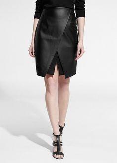 Slit Wrap Skirt