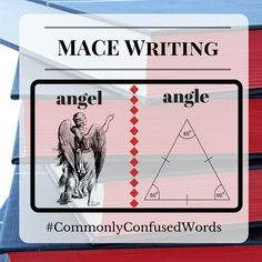 "Difficult word pair: ""angel"" and ""angle."" MACE Writing is here to provide grammar help and spelling help!"