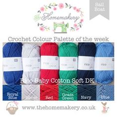 Sail Boat Crochet Colour Palette