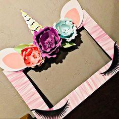 Unicorn Party: Michelle loved their purchase from WishUponAFlowerShop #unicornparty #unicornpartyideas #unicorndecorations #unicornbirthday #unicornphotoframe #unicorn #unicorns #unicornbackdrop #unicornface #unicornhorn #unicornears #unicornlashes